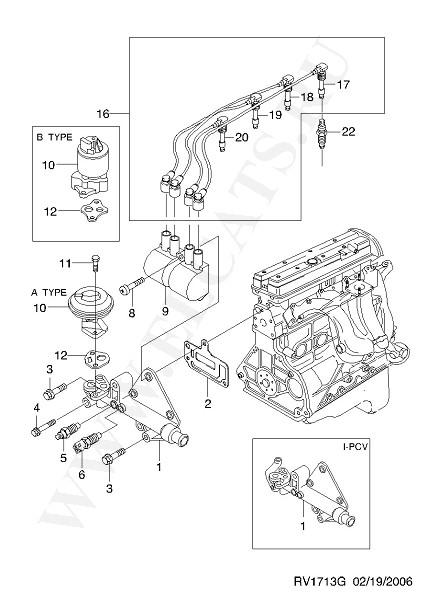 EPICA (V200).  Каталог запчастей Chevrolet.  ЭЛЕКТРООБОРУДОВАНИЕ ДВИГАТЕЛЯ (ДВИГАТЕЛЬ) часть 5. 1. VIN.