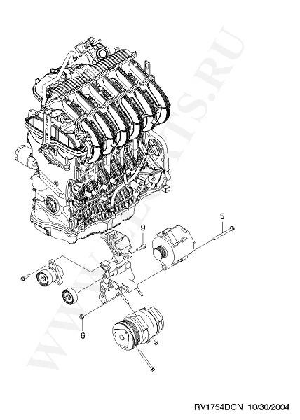 ЭЛЕКТРООБОРУДОВАНИЕ ДВИГАТЕЛЯ для Chevrolet EPICA (V200) GEN, Год выпуска 2005.
