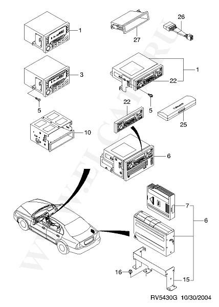 EPICA (V200).  ОТДЕЛЬНЫЕ ЭЛЕКТРИЧЕСКИЕ УСТРОЙСТВА И ДЕТАЛИ (ЭЛЕКТРООБОРУДОВАНИЕ) часть 2. Каталог запчастей Chevrolet.