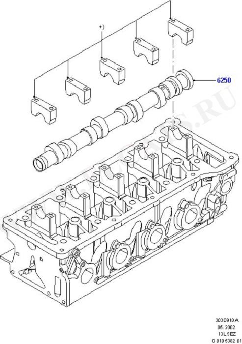Timing Gear, Camshafts & Drive (Силовой агрегат)