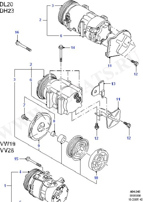 Air Conditioning - Compressor (Dash Panel/Apron/Heater/Windscreen)