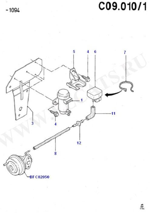 Emission Control - Vacuum Lines (Cosworth V6 2.9 24 Valve)