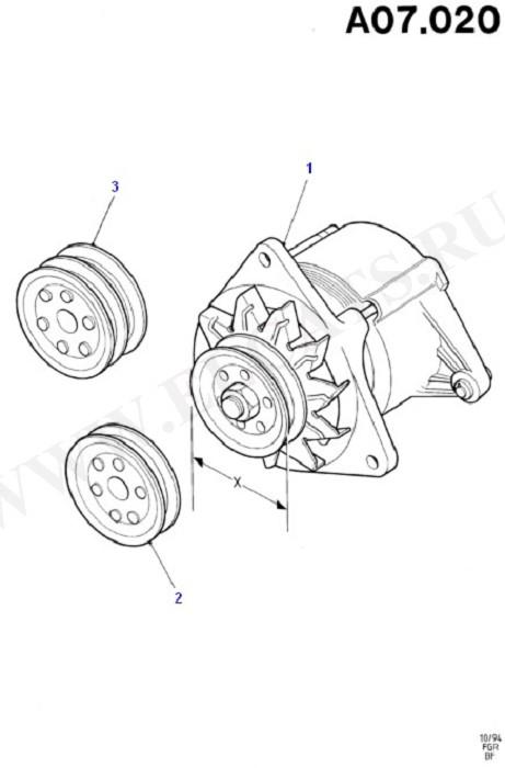 Alternator/Starter Motor & Ignition (Taunus V6 2.0, 2.3, 2.8)