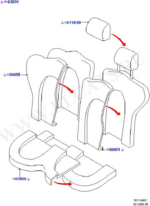 Rear Seat Covers (Seats And Related Parts)
