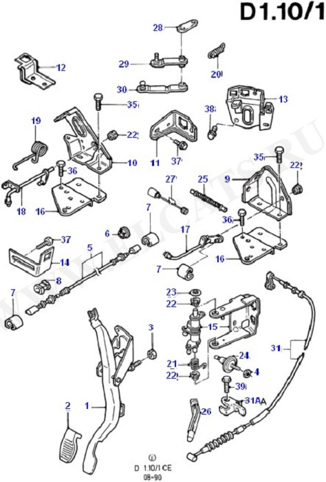 Accelerator/Injection Pump Controls (Accelerator/Speed Control)