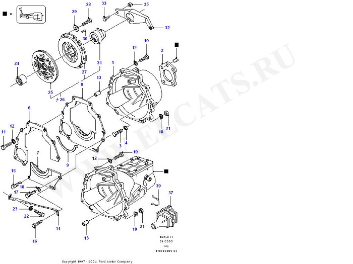 Clutch, Clutch Housing & Flywheel (OHC(TL/LL))