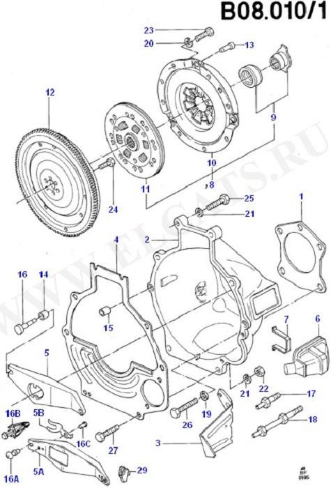 Clutch/Intermediate & Drive Plate (Taunus V6 2.4, 2.9)