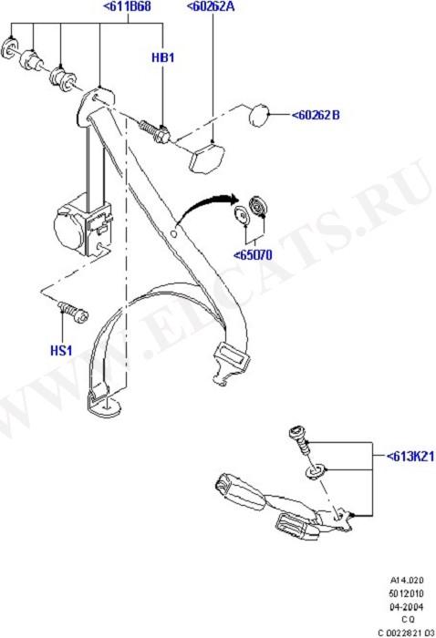 Rear Seat Belts (Occupancy Restraints)