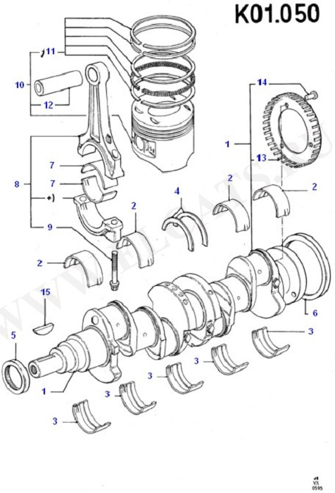 Crankshaft/Pistons And Bearings (Engine/Block And Internals)