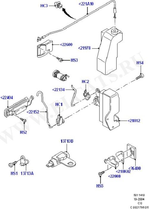 Front Door Lock Controls (Door Lock Mechanisms)