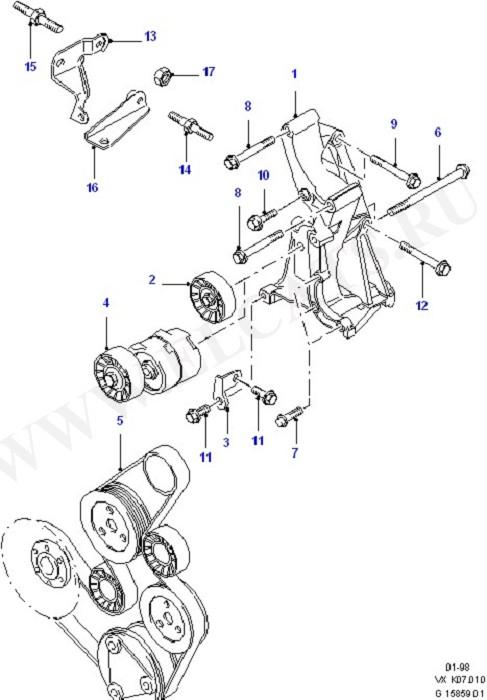 Alternator Mountings & Drive Belts (Alternator/Starter Motor & Ignition)