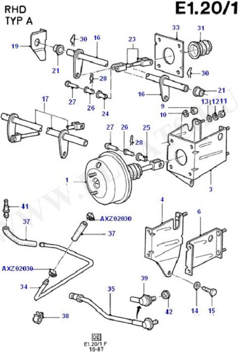 Brake Booster (Master Cylinder/Brake Booster/Pipes)