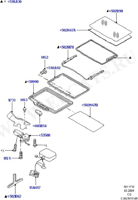 Sliding Roof Mechanism And Controls (Convertible, Hard Top Roof Openings)