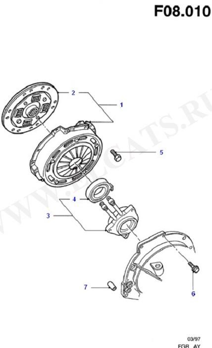 Clutch/Intermediate & Drive Plate (Zetec S)