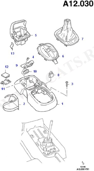 Console - Floor (Floor Mats/Insulators & Console)