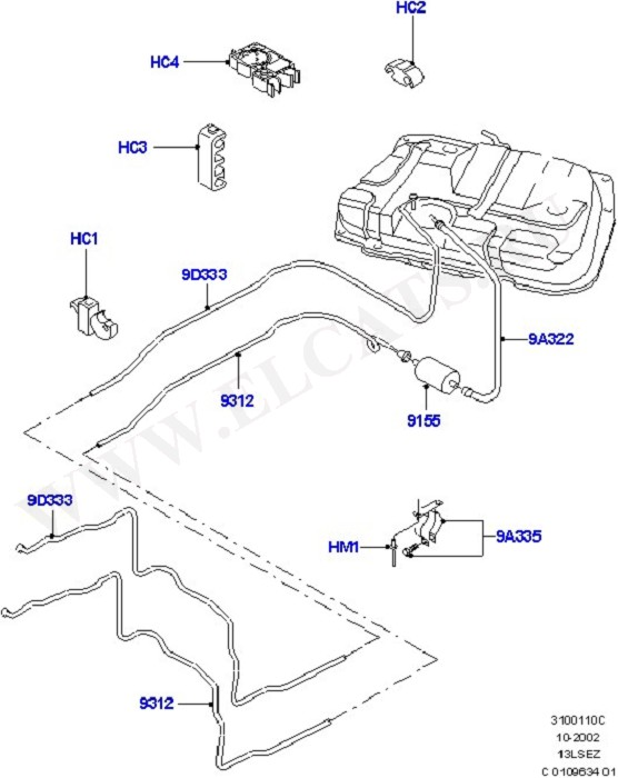 Fuel System - Tank & Lines (Силовой агрегат)