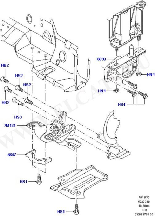 Transmission Mounting (Engine & Transmission Mountings)