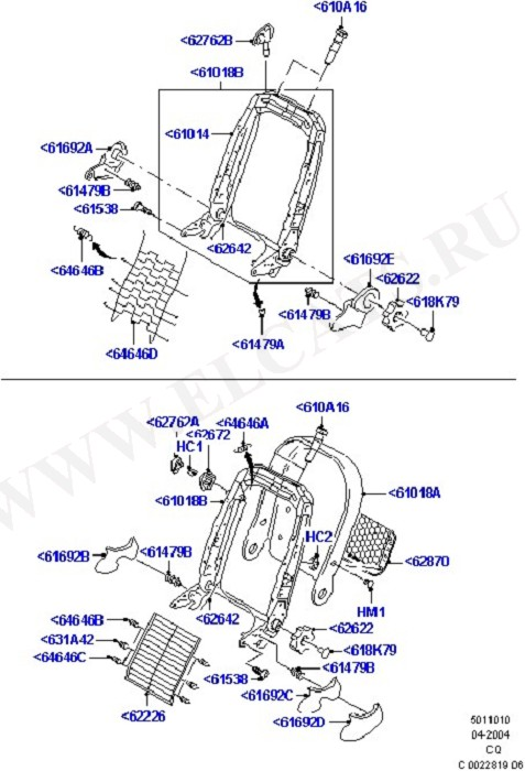 Front Seat Back (Seats And Related Parts)
