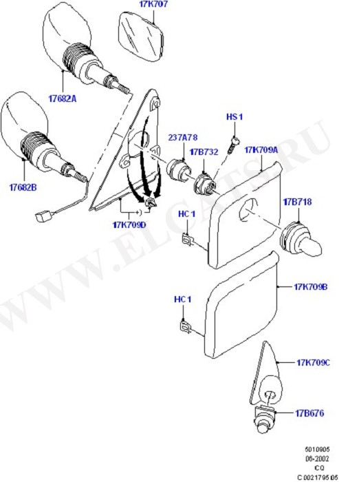 Exterior Rear View Mirror (Rear View Mirrors And Related Parts)