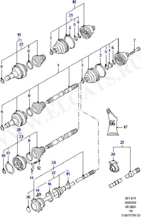 Drive Shaft - Front Wheel Drive (Suspension & Drive Shafts - Front)