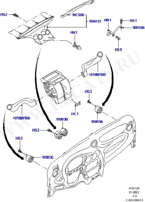 Air Vents, Louvres And Ducts (Вентилятор обогрева,решетки и воздуховоды)