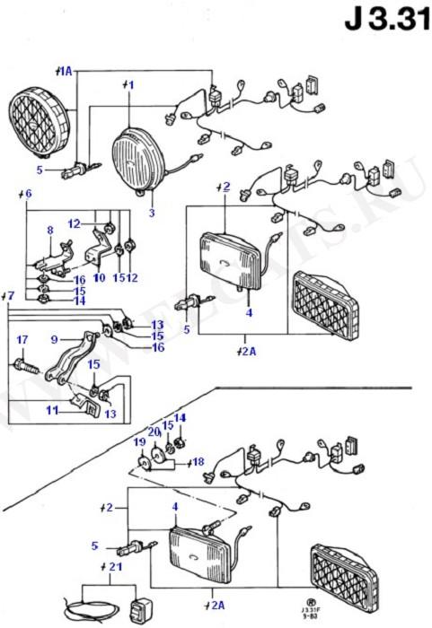 Additional Headlamps - Accessory (Передние фары и поворотники)
