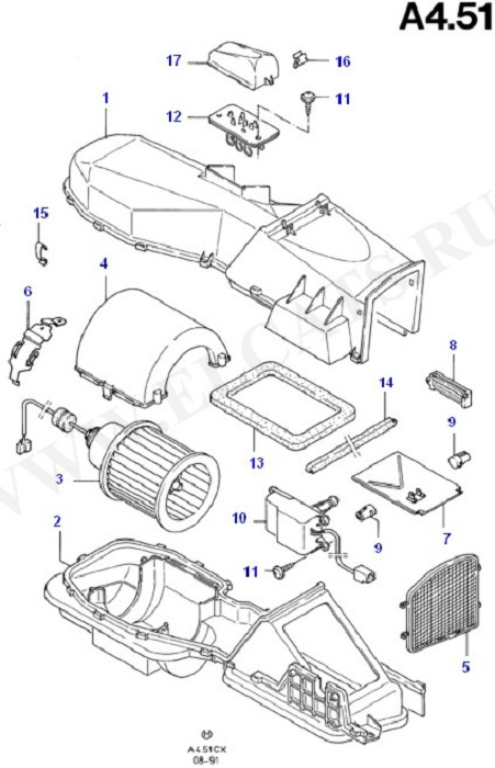Air Conditioning System (Dash Panel/Apron/Heater/Windscreen)