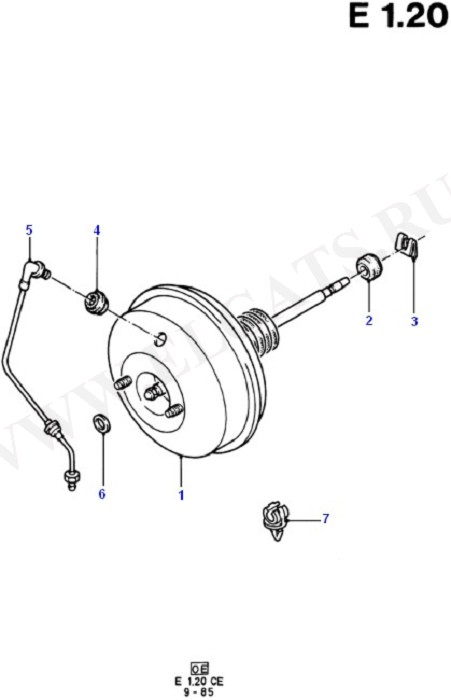 Brake Booster (Brake Pipes/ABS/Brake System Valves)