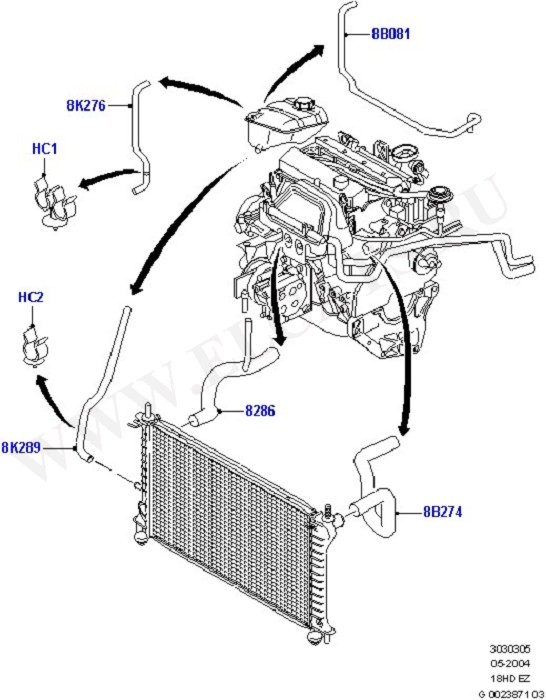 1998 ford contour timing belt diagram