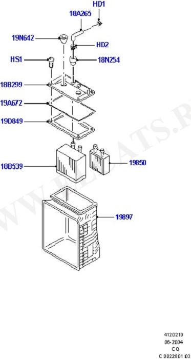 Heater/Air Cond.Internal Components (Система обогрева и кондиционер)