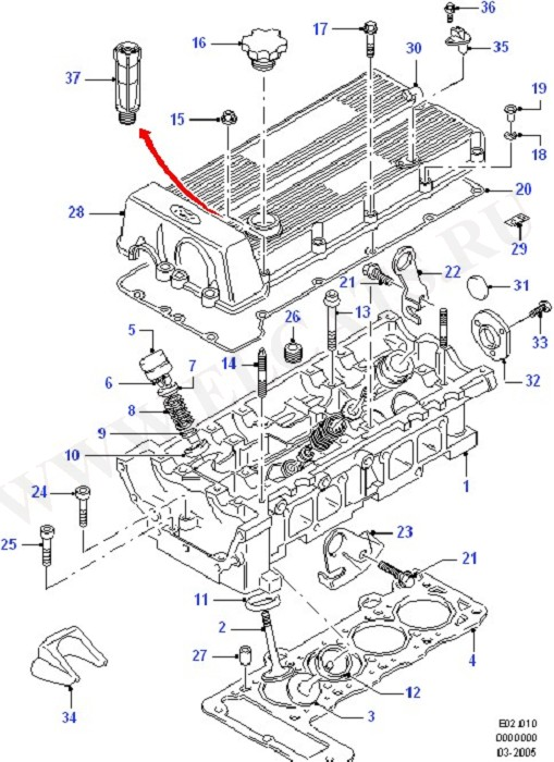 Cylinder Head/Valves/Manifolds/EGR (DOHC(DL/DH))