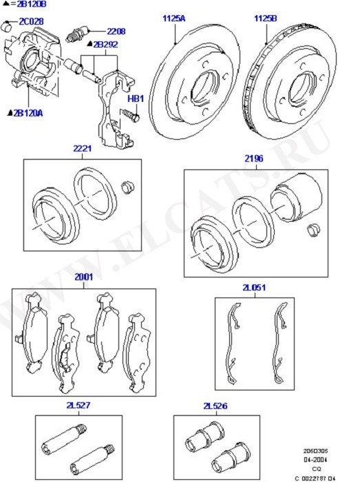 Front Brake Discs And Calipers (Передние тормозные диски и суппорт)