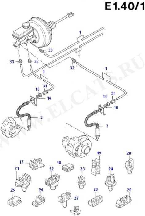 Brake Pipes (Master Cylinder/Brake Booster/Pipes)