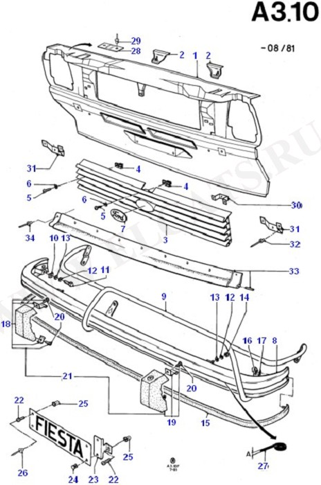 Body Front/Grille And Front Bumper (Radiator Grille,Front Bumper & Hood)