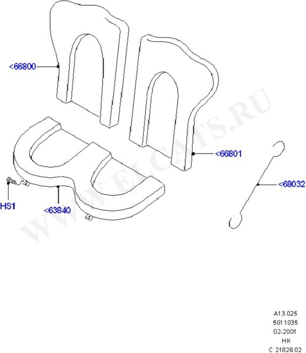 Rear Seat Pads/Valances & Heating (Seats And Related Parts)