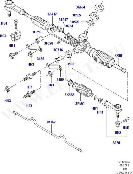 Steering Gear (Рулевой механизм, шланги и насос)