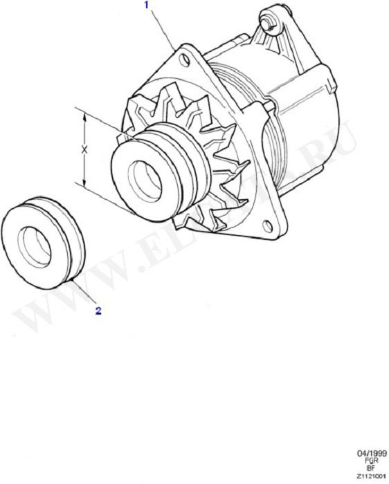 Alternator/Starter Motor & Ignition (Taunus V6 2.4, 2.9)