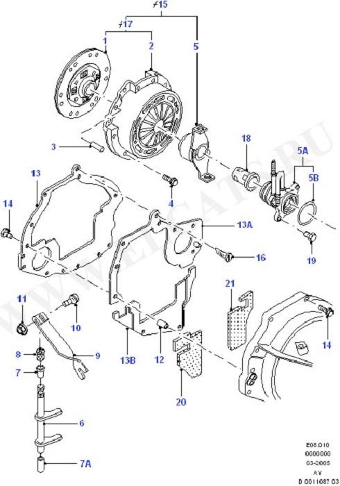 Clutch/Intermediate & Drive Plate (Zetec E)