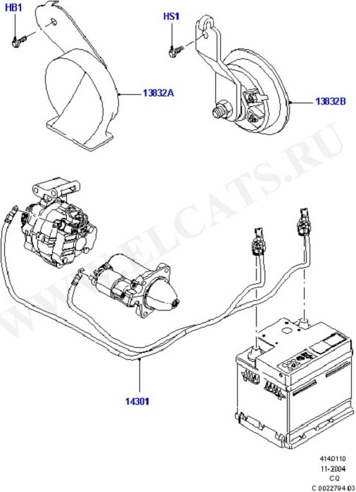Battery Cables And Horn (Battery Cables & Horn)