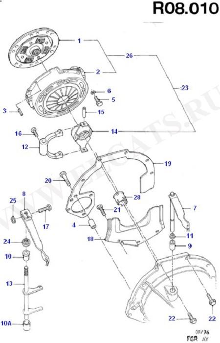 Как заменить сцепление на форд фиеста
