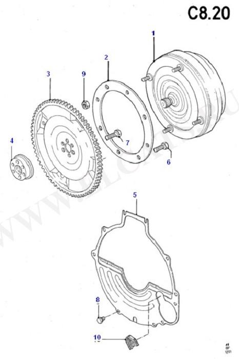 Converter/Intermediate & Drive Plte (Cosworth V6 2.9 24 Valve)