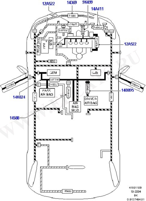 Electrical Wiring - Engine And Dash (Wiring System & Related Parts)