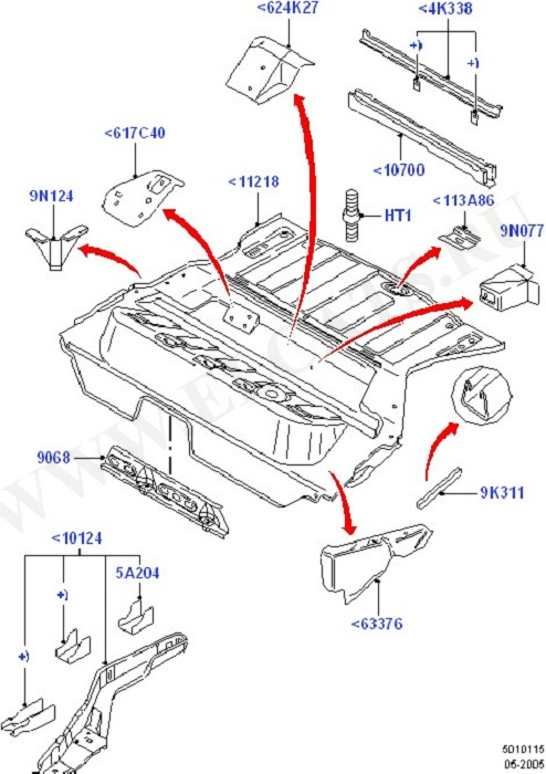Floor Pan - Centre And Rear (Body Less Front End & Closures)