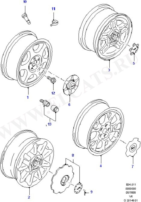 Alloy Wheels (Wheels, Covers And Spare Wheel)