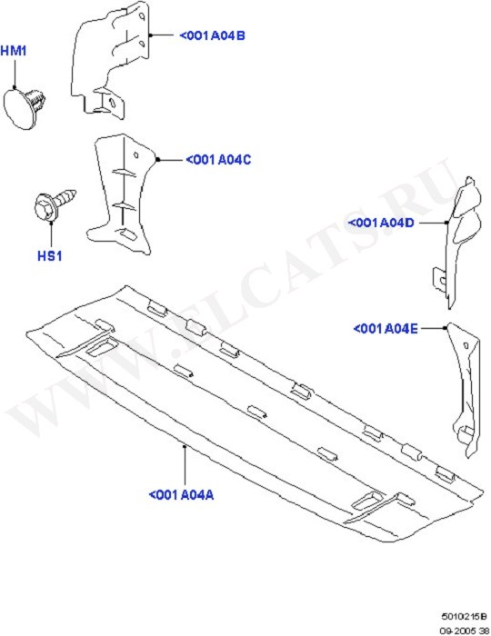 Air Deflectors (Front Body System)