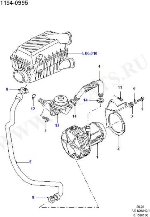 Exhaust Air Supply Pump (Engine Air Intake)