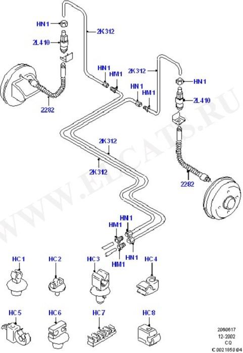Rear Brake Pipes (Тормоза - Гидравлическая система)