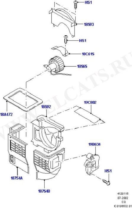 Heater/Air Con Blower And Compnts (Вентилятор обогрева,решетки и воздуховоды)