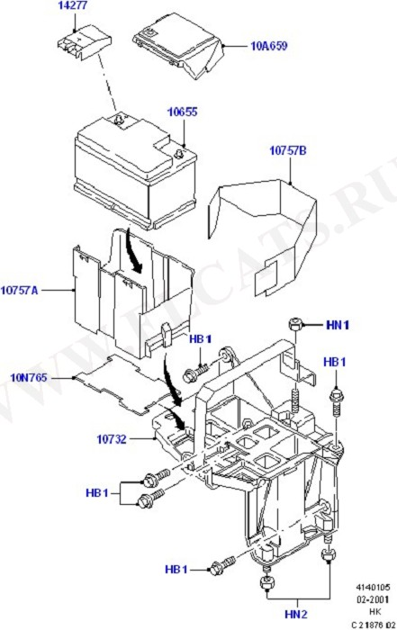 Battery And Mountings (Battery Cables & Horn)