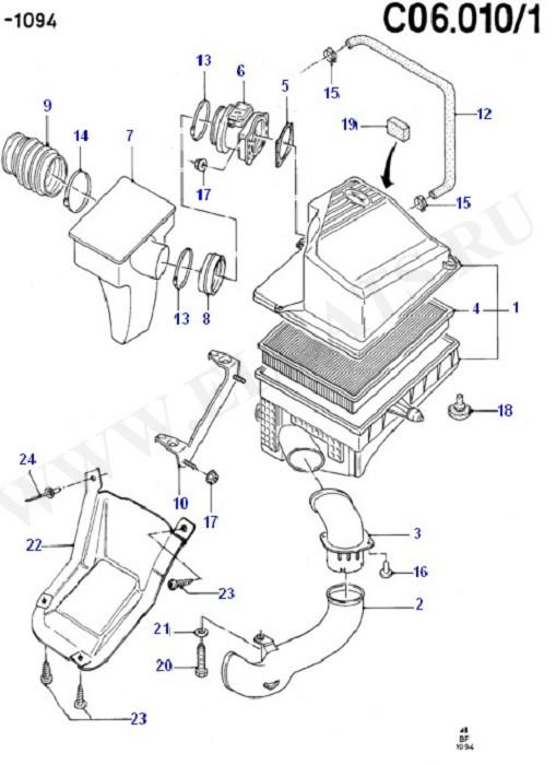 Engine Air Intake (Cosworth V6 2.9 24 Valve)